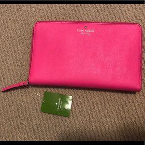 NEW! Kate Spade Hot Pink Travel Wallet